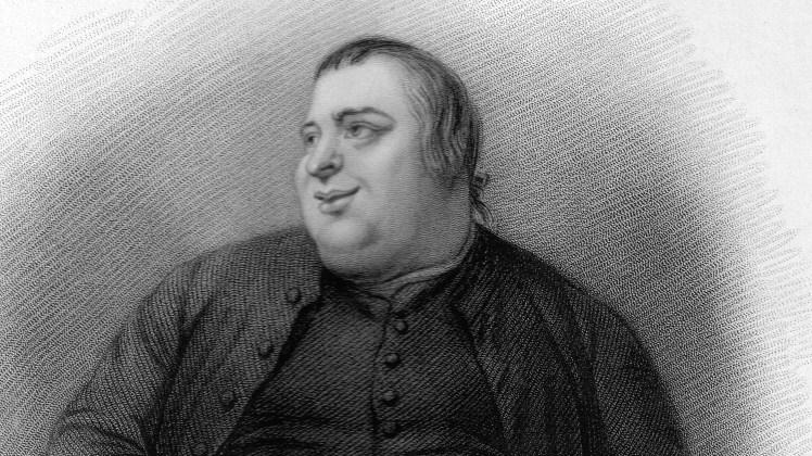 An artists rendering of a fat man.