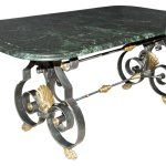 French Marble Top Steel Dining Table Doyle Auction House