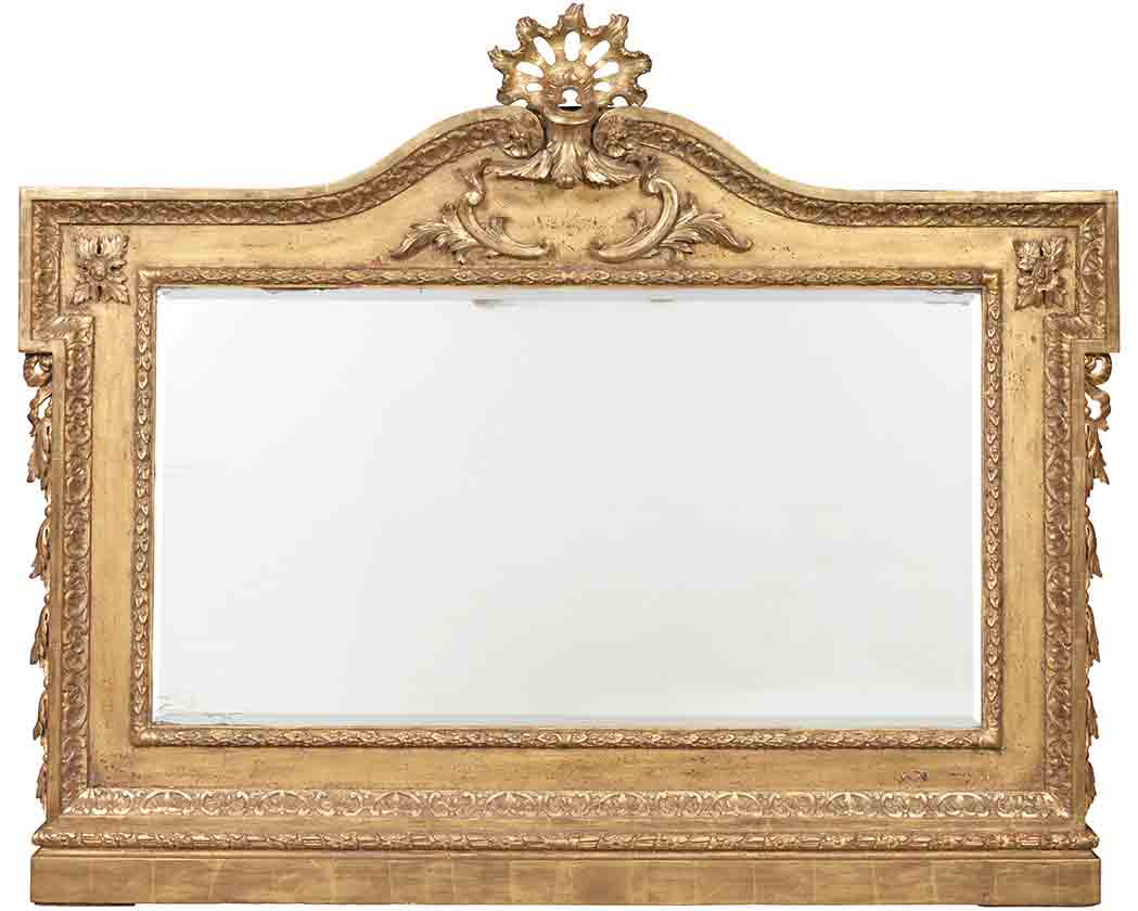 George II Style Giltwood Overmantel Mirror Doyle Auction