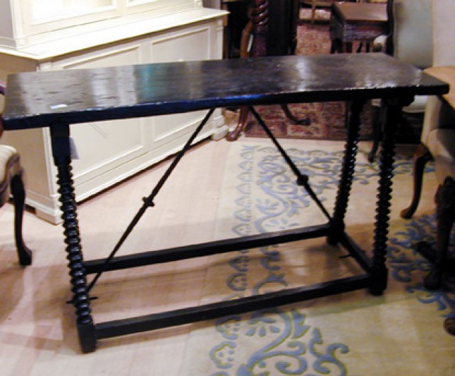 baroque style walnut side table for sale at auction on thu 08 16 2001 07 00 end of summer doyle auction house