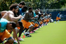 Volunteer Workouts Day One at Miami Dolphins Training Camp