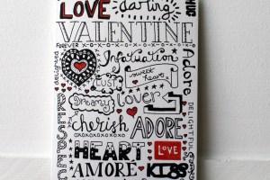Doodle Love Valentines Card