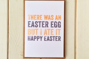 Easter egg greetings cards