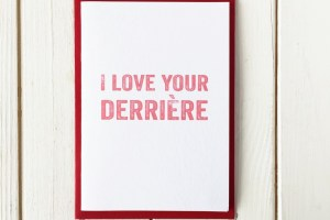 derriere greetings card