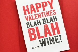 Valentines Wine greetings