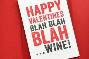 Valentines Wine greetings