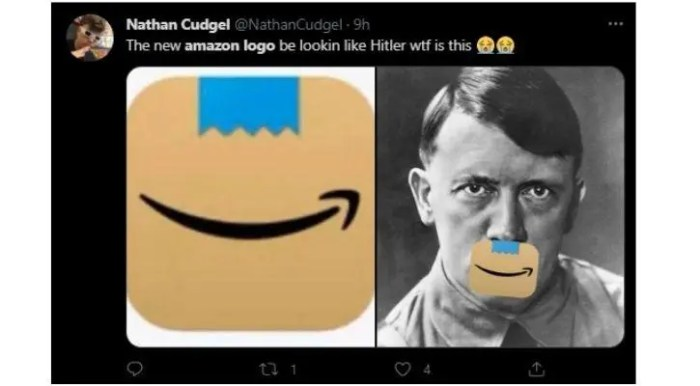 Amazon Changes Logo After People Allege New Logo Looks Like Adolf Hitler