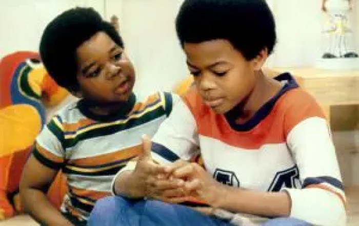 DIFF'RENT STROKES, from left: Gary Coleman