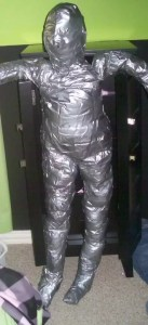 Homemade duct tape dress form