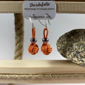 Boucles d'oreilles pomme de touline Coton Orange