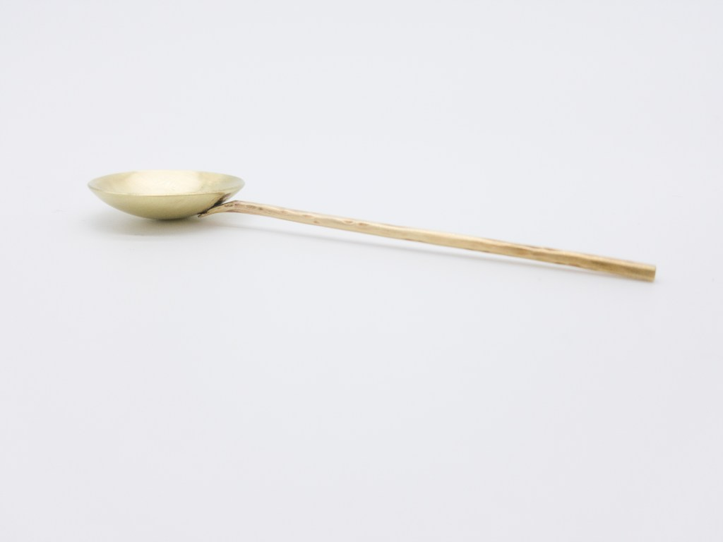 Brass Hand Hammered Spoon