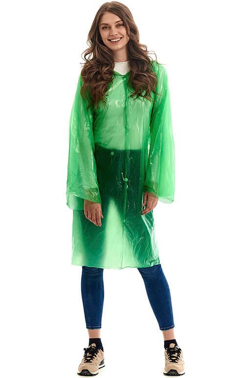 """Купить зеленый плащ-дождевик """"Лайт"""" от производителя"""