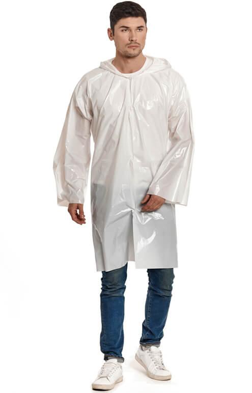 """Купить белый плащ-дождевик """"Стандарт"""" от производителя"""