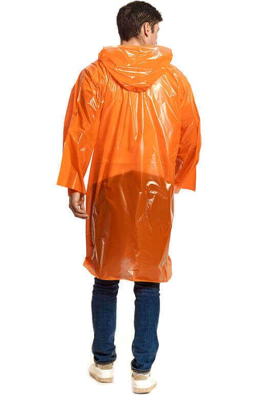 """Купить оранжевый плащ-дождевик """"Стандарт"""" от производителя"""
