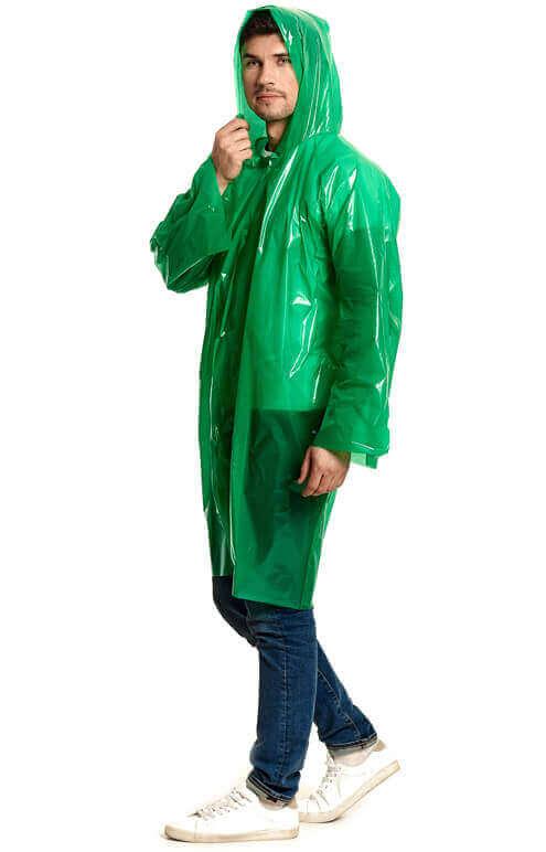 """Купить зеленый плащ-дождевик """"Стандарт"""" от производителя"""