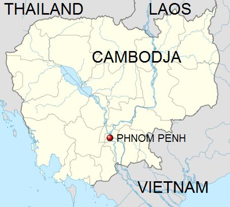 Locatie Phnom Penh - Cambodja