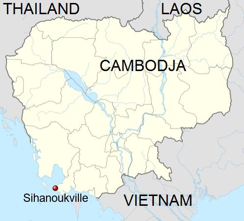 Locatie Sihanoukville - Cambodja