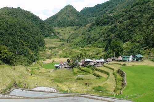 Dal met Banga-an (Bagaan) Village - Provincie Ifugao, Luzon, Filipijnen