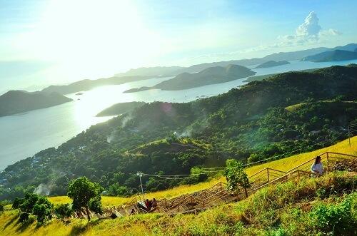 Uitzicht vanaf Mt. Tapyas - Coron, Palawan, Filipijnen