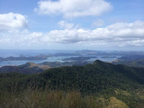 Uitzicht vanaf Mt. Dalara (Tundalara) - Busuanga, Palawan, Filipijnen