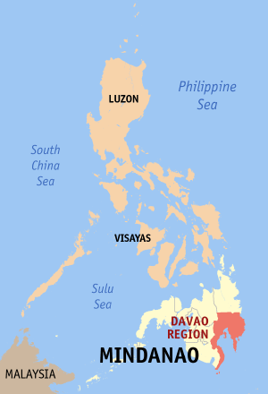 Locatie Davao - Mindanao, Filipijnen