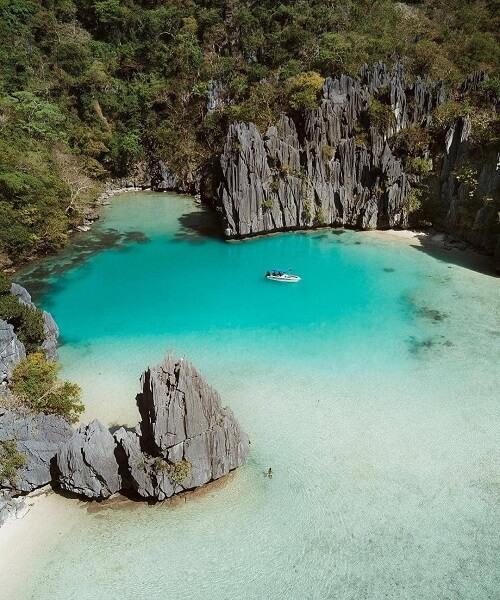 Cadlao Lagoon in de Bacuit Bay - El Nido, Palawan, Filipijnen