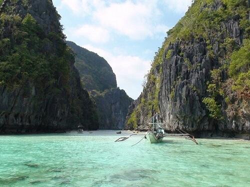 Entree Big Lagoon - Bacuit Bay El Nido, Palawan, Filipijnen