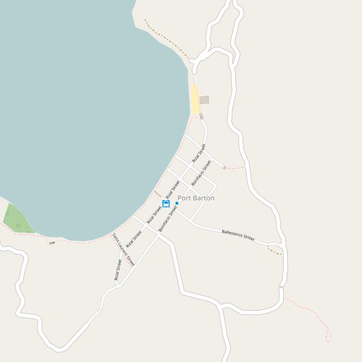 Kaart / plattegrond Port Barton - Palawan, Filipijnen