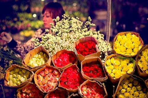 Bloemenmarkt (Flower Market) - Hanoi, Vietnam
