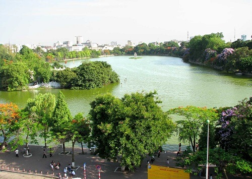Hoan Kiemmeer = Hoan Kiem Lake - Hanoi, Vietnam