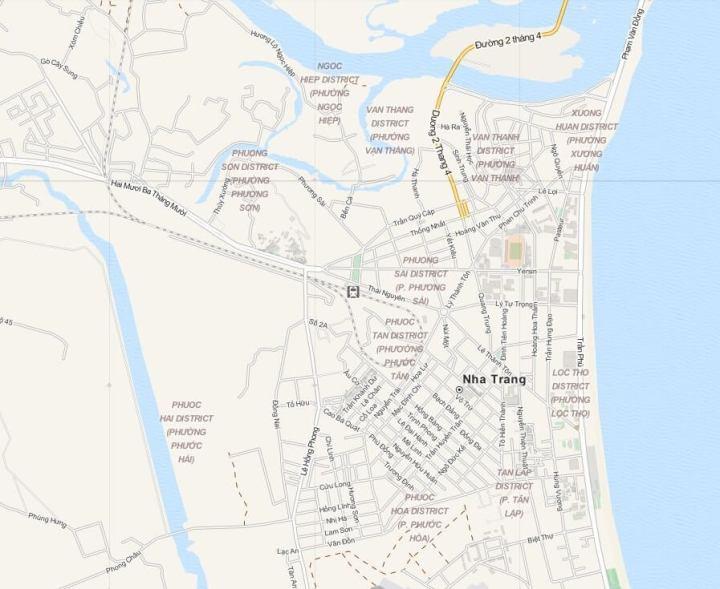 Plattegrond Nha Trang, Midden Vietnam