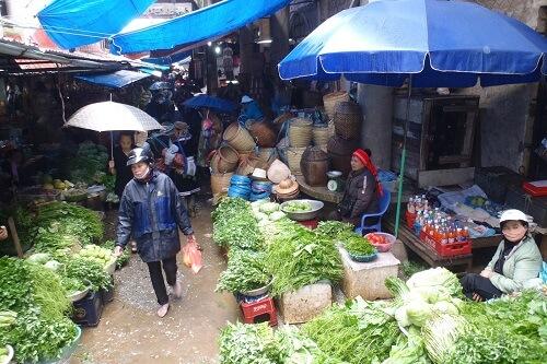 Markt in Sapa, Noord Vietnam
