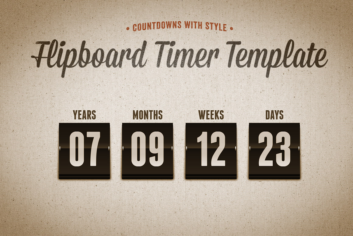 Flipboard Countdown Timer Template Design Panoply