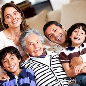 Benefits Strategies for Generation X; picture of multi-generational Hispanic family