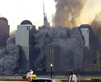 The tall towers vanished turned to huge clouds of smoke in minutes