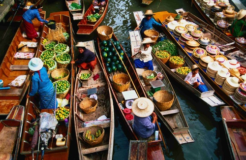 Floating markets bangkok
