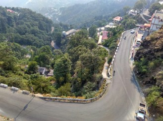 Weekend Road Trip To Mussoorie - view from our hotel