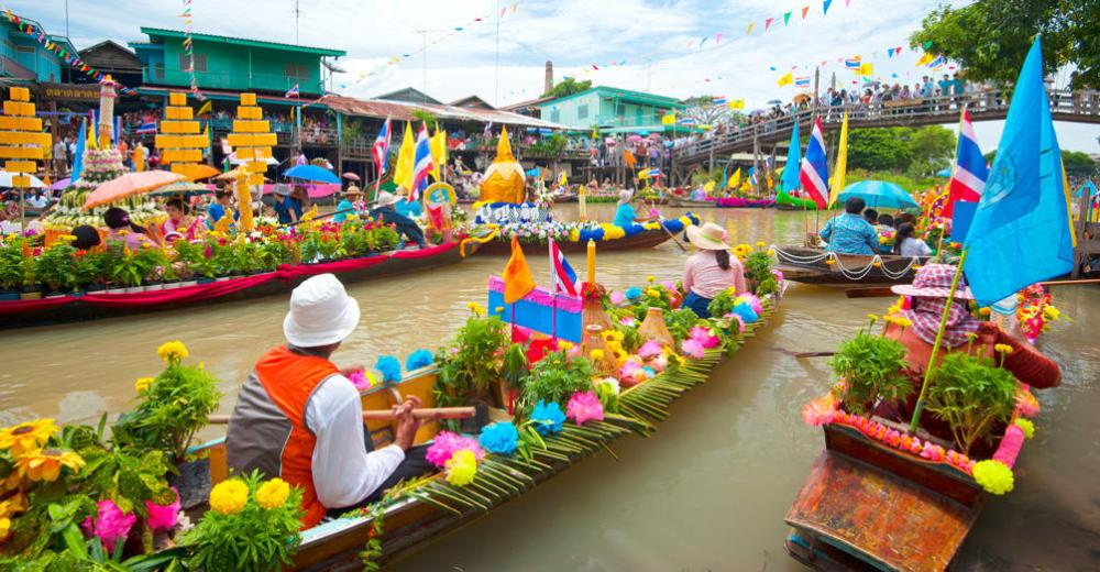 Floating Market, Bangkok Attractions,Thailand