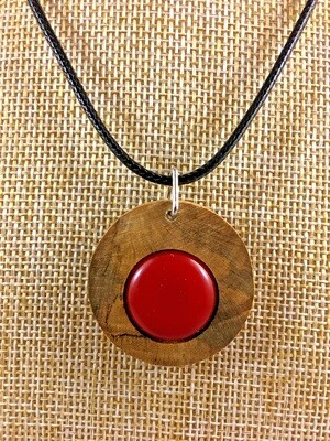 Blessington Driftwood Dot Pendants - Red