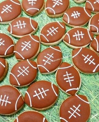 Mini Football  Sugar Cookies