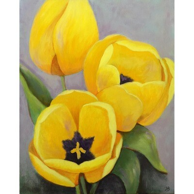 Hilda Bordianu -- Yellow Tulips