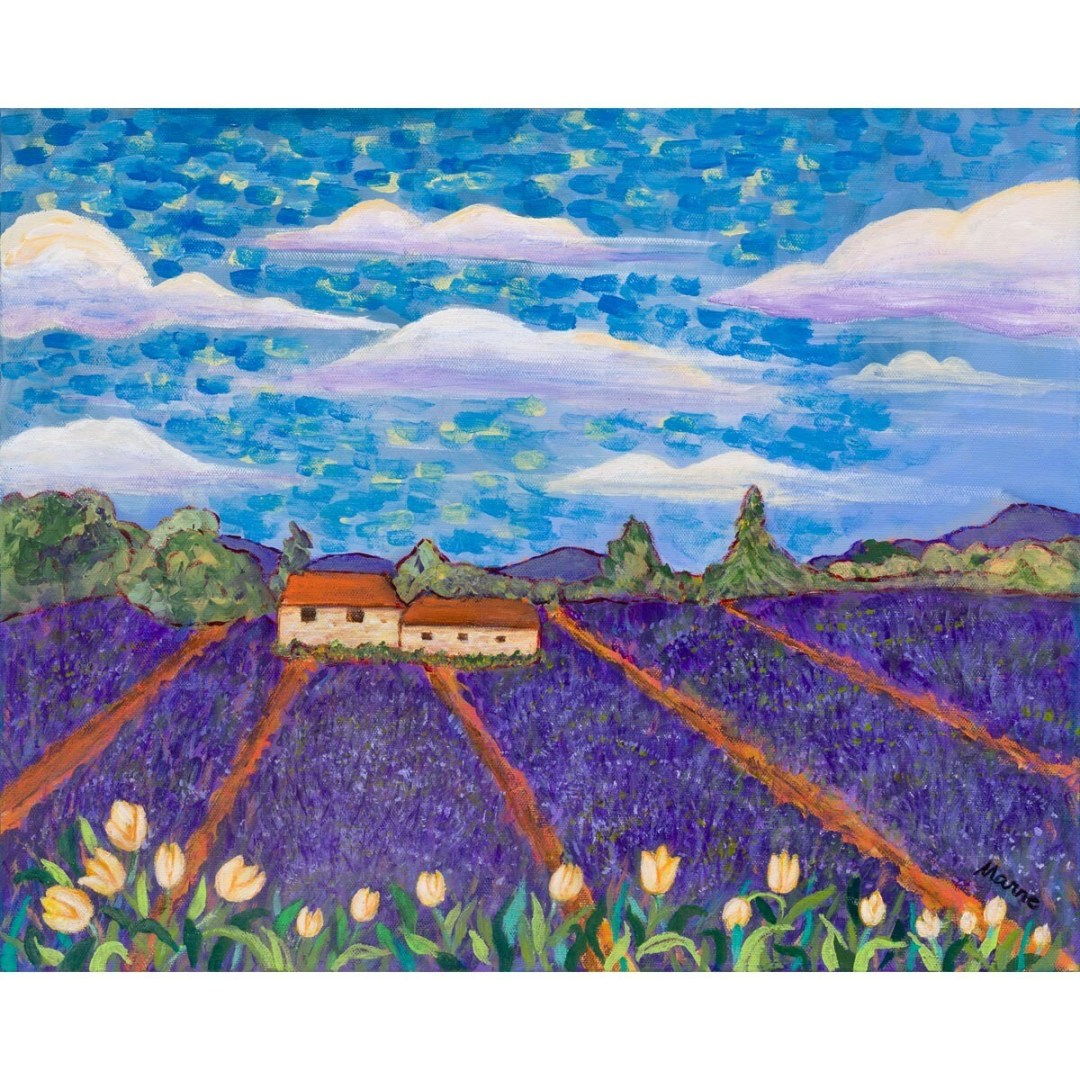 Marne Jensen -- Tulips and Lavender