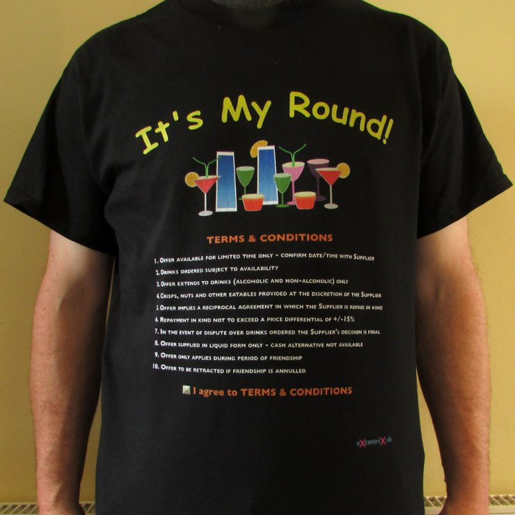It's My Round! T-shirt XTS00010