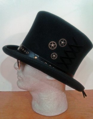 Steampunk Felt Top Hat