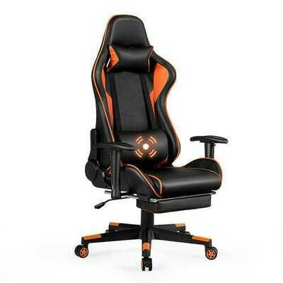 Reclining Racing Chair with Lumbar Support Footrest