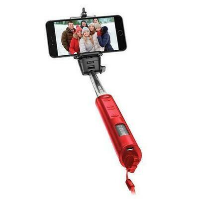 Smart Gear 40 Bluetooth Telescoping Extendable Monopod Selfie Stick Red