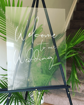 Welcome To Our Wedding | Acrylic