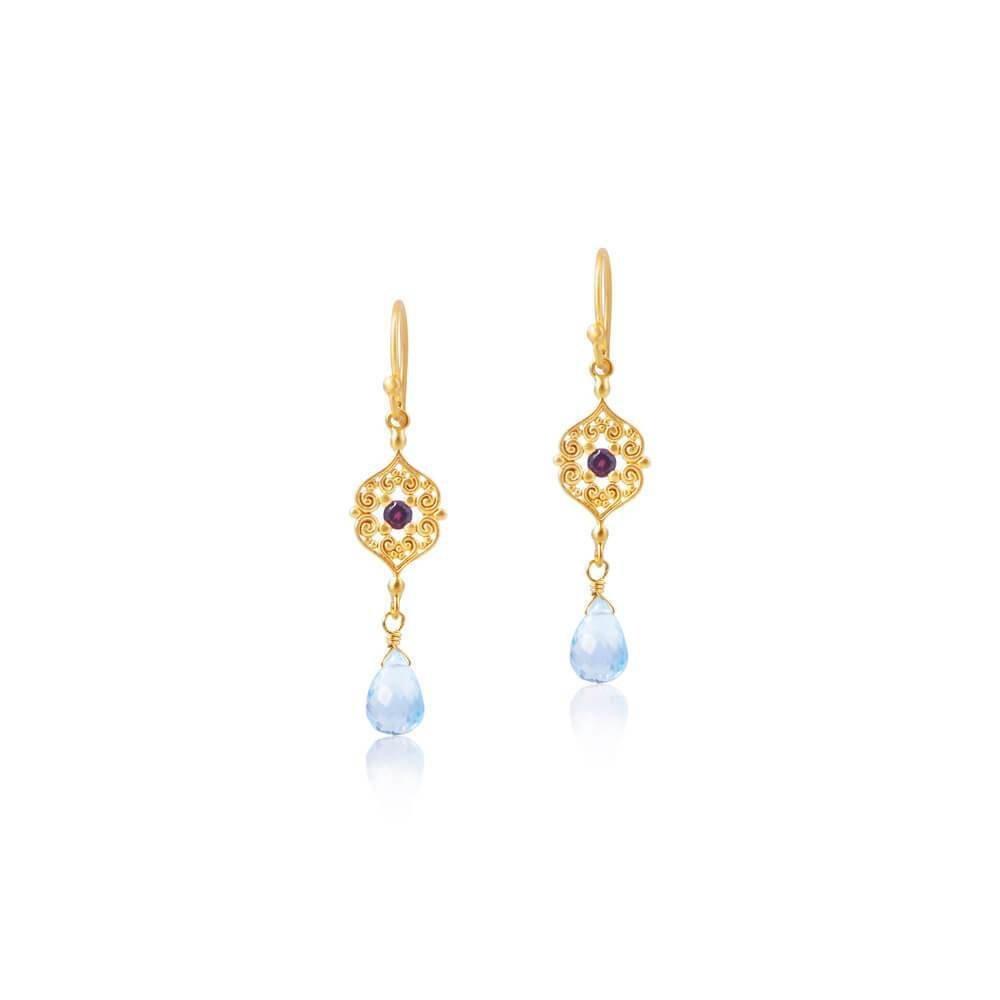 Sacred Heart Earrings • Gold Vermeil