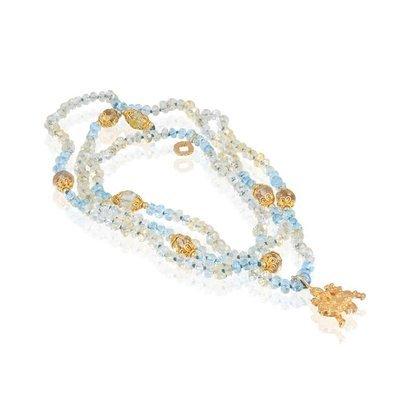 Durga Mala • Aquamarine