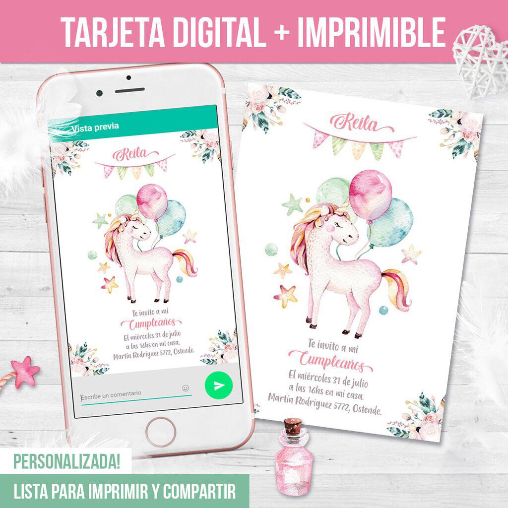 Invitacion DIgital + Formato para Impresión